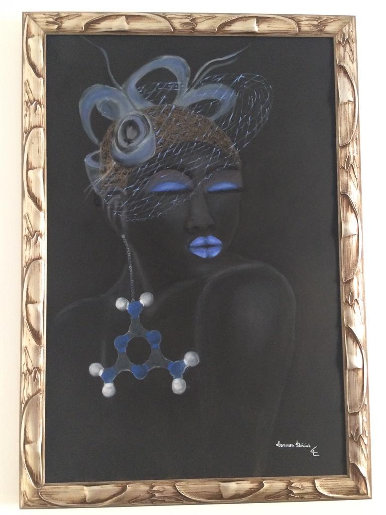 Pintura a óleo – 80 x 100cm Negra Melanina