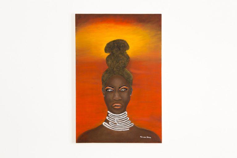 Pintura Óleo – Negra Etéra  80x100cm