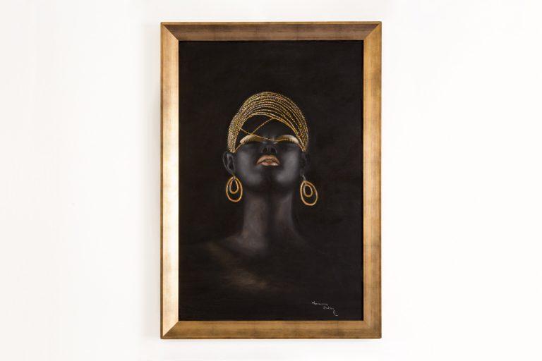 Pintura Óleo – Negra Vitória  80x100cm