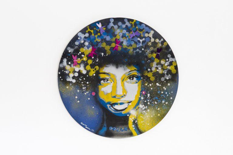 Técnica Graffiti – Porta Retrato 50×50 cm